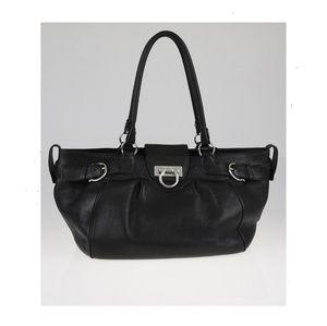 Salvatore Ferragamo black leather shoulders bag